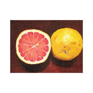 Grapefruit Oil Painting Canvas Canvas Print