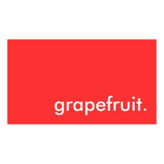grapefruit. pack of standard business cards