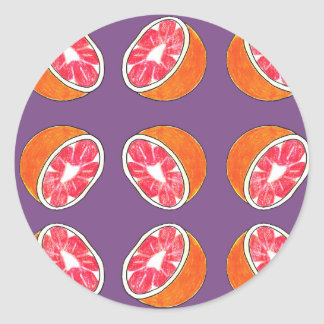 Grapefruit Pattern Stickers