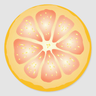 Grapefruit Slice Classic Round Sticker