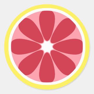 Grapefruit Slice Sticker