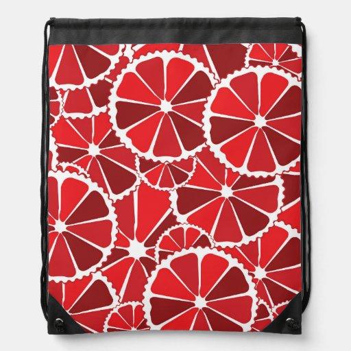 Grapefruit slices drawstring backpacks