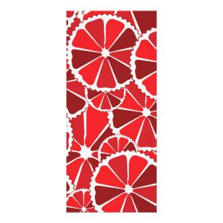 Grapefruit slices rack card template