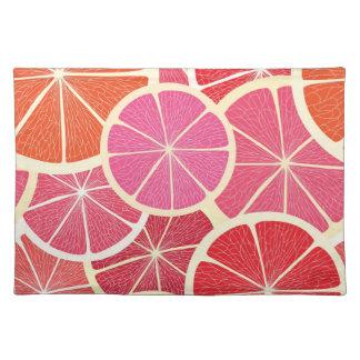 Grapefruit vintage background placemat