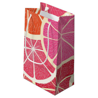 Grapefruit vintage background small gift bag