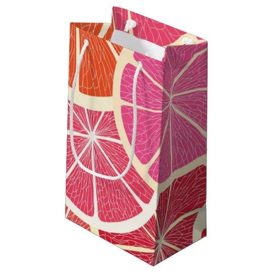Grapefruit vintage background small gift bag