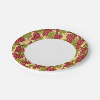 Grapes 7 Inch Paper Plate