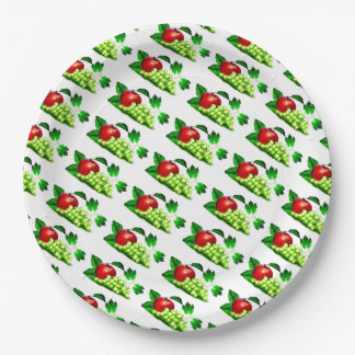 Grapes and Apples Paper Plate