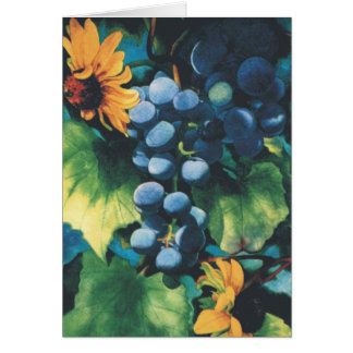 Grapes and Black-Eyed Susans Greeting Card
