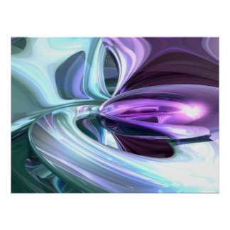 Grapes and Cream Abstract Poster