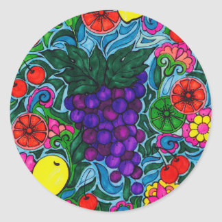 Grapes and Fruit Bright Sticker