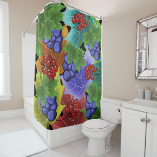 grapes and leaves shower curtain