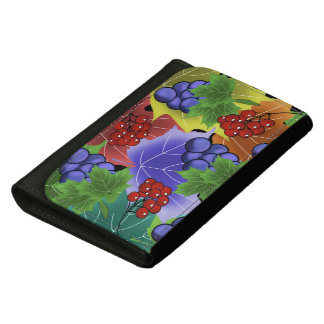 grapes and leaves women's wallets