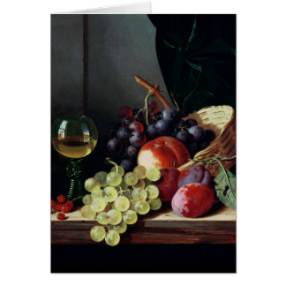Grapes and plums card