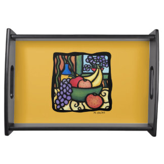 Grapes Apple Oranges Bananas Colorful Mixed Fruit Serving Tray