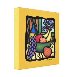 Grapes Apple Oranges Bananas Colorful Mixed Fruits Canvas Print