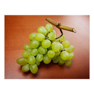 Grapes cluster poster