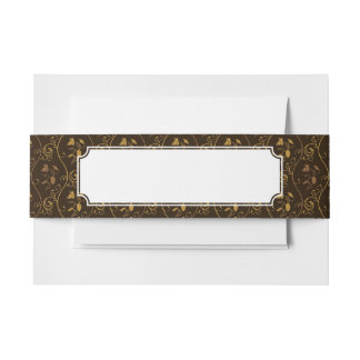 Grapes décor invitation belly band