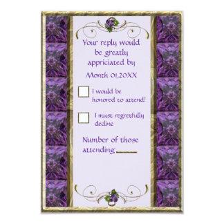 "Grapes Grapes RSVP 3.5"" X 5"" Invitation Card"
