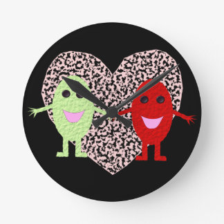 Grapes in Love Wall Clock