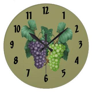 Grapes Large Clock
