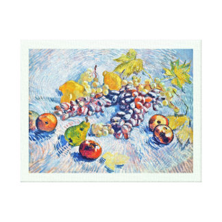 Grapes, Lemons, Pears and Apples Vincent van Gogh Gallery Wrap Canvas