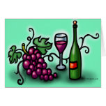Grapes n Wine Greeting Cards