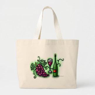 Grapes n Wine Large Tote Bag