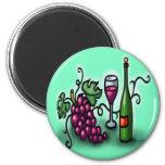 Grapes n Wine Magnet