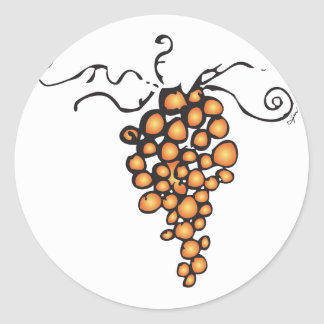 GRAPES OF LIFE CLASSIC ROUND STICKER