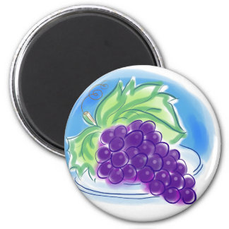 Grapes on a Plate Magnet