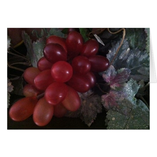 Grapes on leaves Greeting Card
