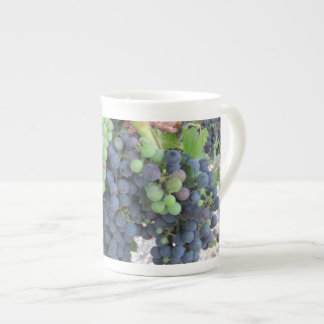Grapes on the Vine, Aron Hill Vineyard Bone China Mug