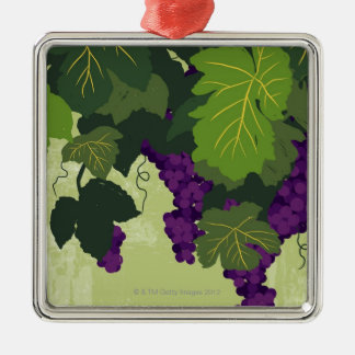 Grapes on the Vine Christmas Ornament