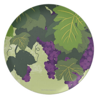 Grapes on the Vine Plates
