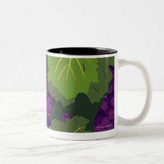 Grapes on the Vine Two-Tone Coffee Mug