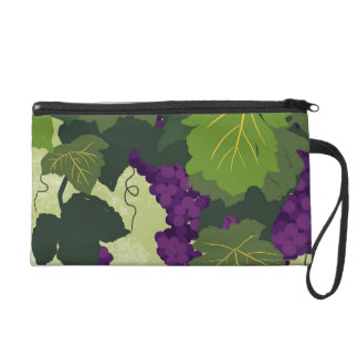 Grapes on the Vine Wristlet Clutches