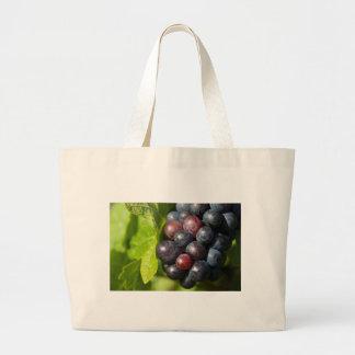 Grapes on vine large tote bag