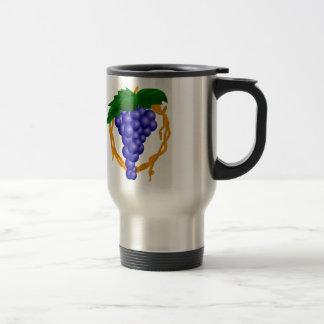 Grapes On Vine Stainless Steel Travel Mug