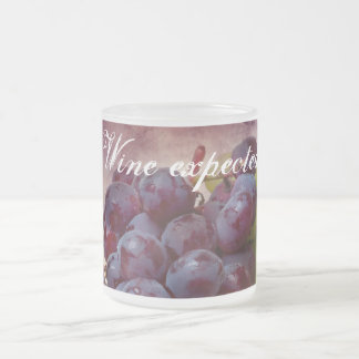 Grapes Red And Green Frosted Glass Coffee Mug