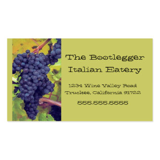 Grapes- Resturant Business Card Template