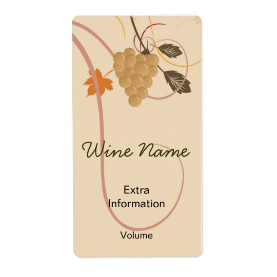 Grapes Retro Wine Label With Kisses Shipping Label