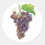 Grapes Round Sticker