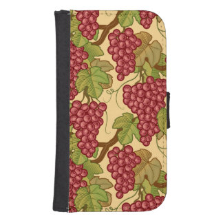 Grapes Samsung S4 Wallet Case