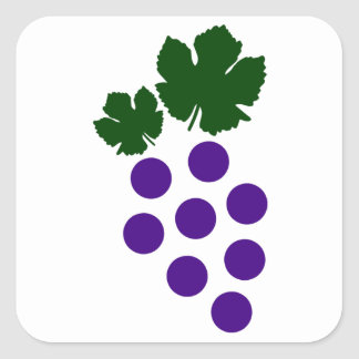 Grapes Square Sticker