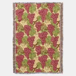 Grapes Throw Blanket