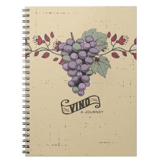 Grapes vines Tuscan wine tasting vineyard tours Spiral Note Book