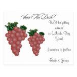 Grapes/Vineyard Custom Save the Date