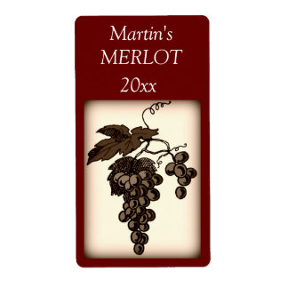 Grapes Wine Label Shipping Label