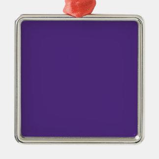 GRAPEVINE (a solid rich purple color) ~ Silver-Colored Square Decoration